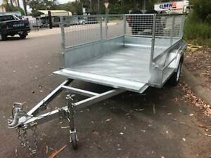 7 x 5 HEAVY DUTY HOT DIPPED GAL TRAILER WITH CAGE BRAKED 1500 kg GVM Erina Gosford Area Preview