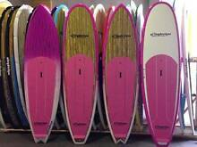 """Stand up paddle board timber pink 10'x32"""" $775 new Alleydesigns Currumbin Waters Gold Coast South Preview"""