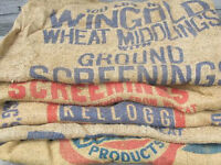 300-400 Standard Burlap Seed Bags for sale