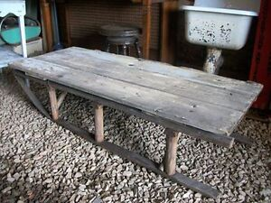 Beautiful home made Antique Sled Table