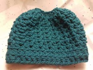 Messy Bun Crochet Hats - Variety of Colours Available Peterborough Peterborough Area image 3
