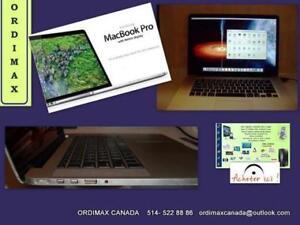 MacBook Pro 15 Retina A1398   Intel  i7 QuadCore 3615QM  / 256 SSD / 8 GB RAM/ Très bon  condition  9/10   514-522 8886