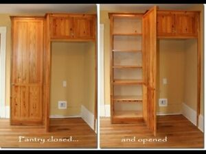 Kitchen oak pantries