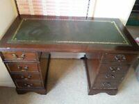 Solid dark wood desk