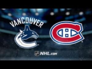 2 Tickets Vancouver Canucks vs Montreal Canadiens - Dec 19 Lower