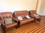 Leather couch Belmore Canterbury Area Preview