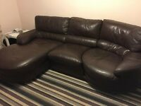 4 Seater Leather Sofa & Electric Reclining Chair