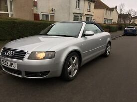 audi a4 convertible with long mot!! low miles px welcome