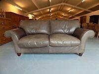 Beautiful Laura Ashley 2 Seater Abingdon Leather Sofa
