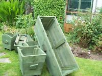 Planters - Wooden, Rustic
