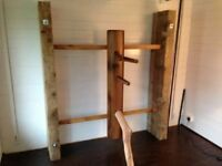 Handcrafted Wing Chun Wooden Dummy made from solid Tenderheart Rosewood (handmade to order)