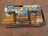 For sale Drill sharpener plus plasplugs compact complete machine .