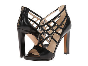 NINE WEST leather strappy shoes womens 9.5