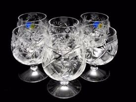 (Check Other Ads) - Berroco 6 Pack Of Crystal Dessert / Cocktail Glasses [NEW IN BOX] ✓