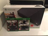 Xbox One S-Storm Grey With Black Ops 3 And Infinite Warfare