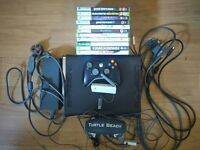 Xbox 360 Elite Bundle, 120GB, 12 games, pad, WiFi, turtle beach