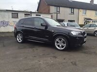 2011 BMW X3 2.0D X Drive 4 x 4 Fully Loaded M Sport Kit & Wheels Finance Available