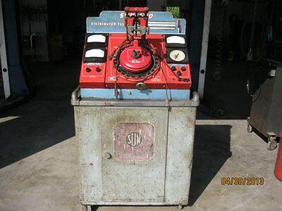 Sun Distributor Machine 600 Tester & Vintage Diagnostic Storage Cart Roll Around