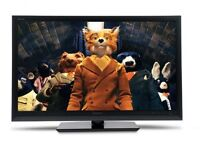 """42"""" black LCD tv HD ready with built in freeview HDMI and remote control can deliver"""