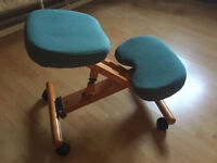 Green office kneeling chair - for low back pain