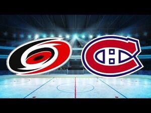 Montreal Canadiens vs Carolina hurricanes Desjardins tickets