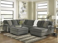 New Loric Smoke U Shape Sectional