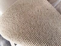 ROLL OF NATURAL CO-ORDINATES CORD BUCKRAM CARPET 5X5M