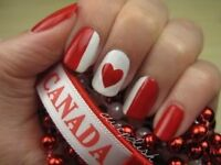 Girls LOVE CANADA DAY Nail Art!  June 29, 30th workshops