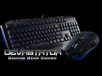Devastator Gaming Gear Combo (LED MB24 Keyboard, MS2K Mouse)