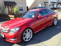 Red C Class 220 AMG Sport Mercedes Diesel 2014 for sale