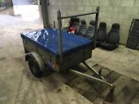 Small trailer with waterproof cover 5x3