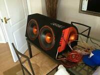 Edge 1800W Twin Sub With Built in Amp