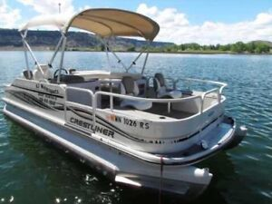 Want to buy new 20' with 50hp pontoon , any make