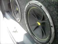 "Kicker dual 12"" sub bass bin car van stereo"