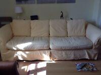 Pale Yellow 3 Seater Sofa £150 ONO