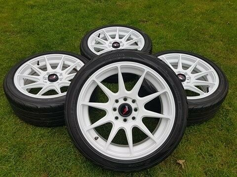 JAPAN RACING JR11 ALLOY WHEELS 4x100 4x114 16x7 POLO CORSA E30 MINI XXR 527 AXE