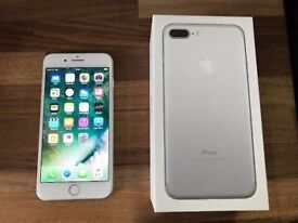 iPhone 7 Plus 32gb silver - Mint condition - warranty!