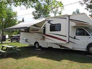 Je loue mon Camping-Car motorisé STATIONNAIRE en Estrie, Québec