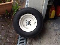 Jet ski trailer spare wheel and tyre