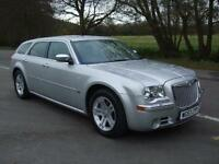 CHRYSLER 300C 3.0 V6 CRD AUTMATIC TOURI BRIGHT SILVER 2007 57 REG 5 DOOR ESTATE