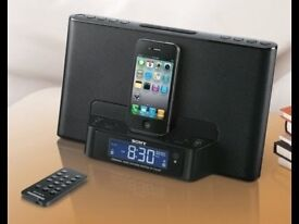 Sony Personal Audio System ICF-DS15iPN - Iphone Charger, Remote Control, Amazing Loudspeaker & Alarm