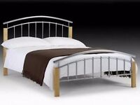 BRAND NEW JULIAN BOWEN AZTEC KING SIZE 150cm BED & DELUXE SEMI-ORTHOPAEDIC MATTRESS **CAN DELIVER**