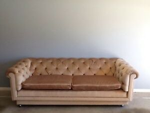 Vintage Moran gold velvet Chesterfield couch sofa pair Mount Ommaney Brisbane South West Preview