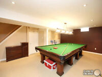 Antique Brunswick snooker (6' by 12') pool table