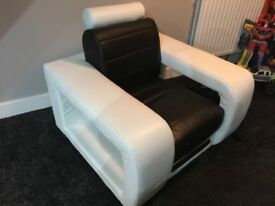 Leather Sofa & Armchair