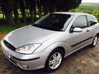 Ford Focus 1.6 mot silver three door leather £895