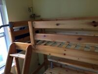 FLEXA SINGLE BED Flexabed FLEXA BED on stilts with desk, swivel chair and mattress included.
