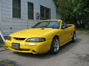 1998 Yellow Cobra Mustang Convertible