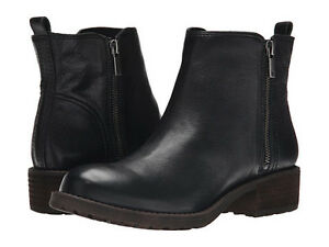 Leather booties, black, new
