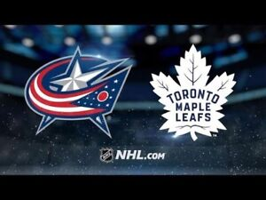 Leafs vs Columbus Blue Jackets Nov 19